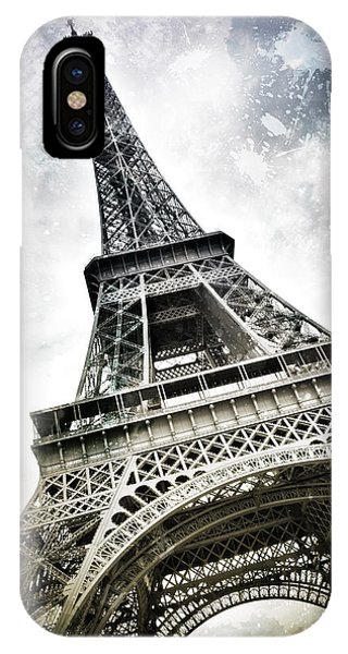 Modern-art Paris Eiffel Tower Splashes IPhone Case
