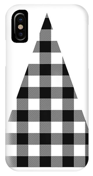 Winter iPhone Case - Modern Black And White Tree 2- Art By Linda Woods by Linda Woods