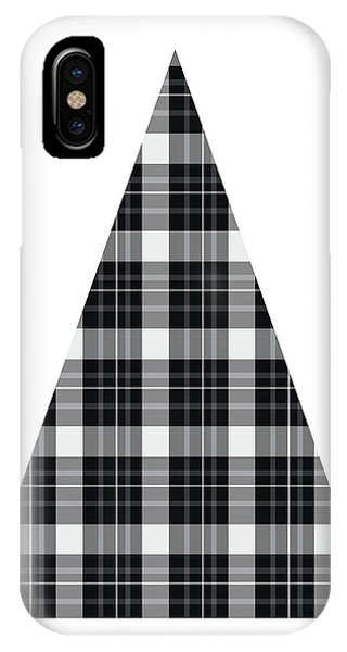Winter iPhone Case - Modern Black And White Tree 3- Art By Linda Woods by Linda Woods
