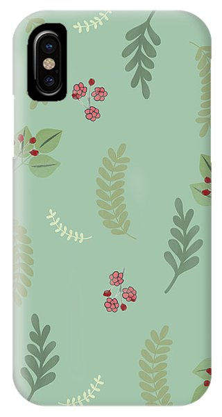 Modern Botanical Study Pattern, Spring And Summer IPhone Case