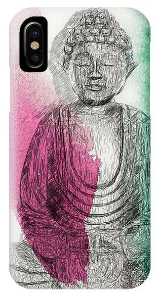 Modern Buddha IPhone Case
