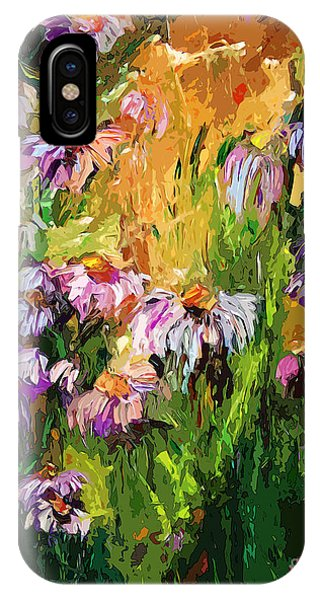 Modern Coneflower Art Mixed Media IPhone Case