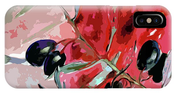 Modern Decor Art Olive Branches IPhone Case