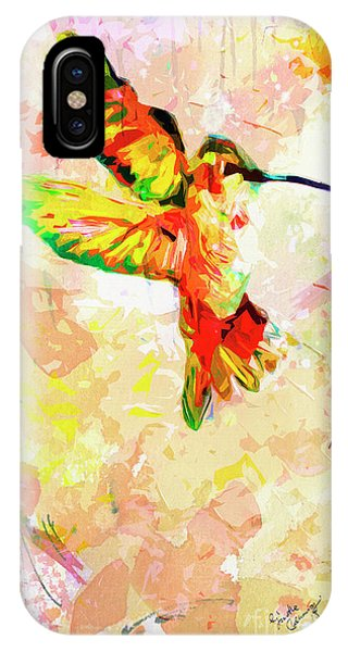 Modern Expressive Hummingbird  IPhone Case
