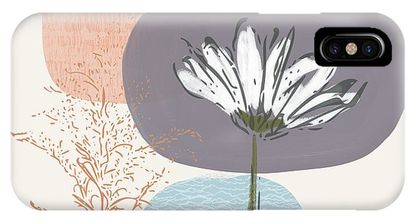 Simple iPhone Case - Modern Fall Floral 2- Art By Linda Woods by Linda Woods