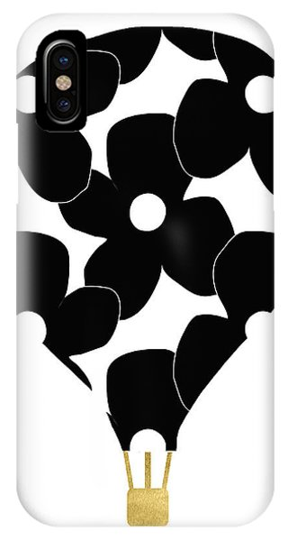 Celebration iPhone Case - Modern Floral Hot Air Balloon- Art By Linda Woods by Linda Woods