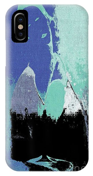 Cobalt Blue iPhone Case - Abstract Portrait - 87t1dc7b by Variance Collections