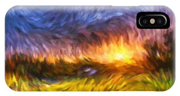 Modern Landscape Van Gogh Style IPhone Case