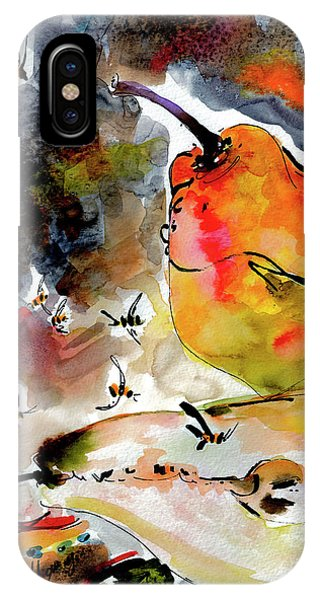 Modern Pears And Bees By Ginette IPhone Case