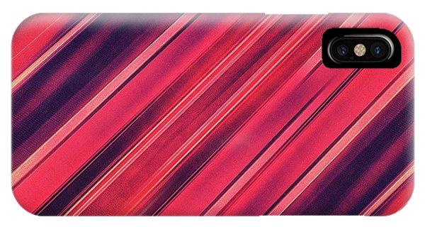 Geo iPhone Case - Modern Red Black Stripe Abstract Stream Lines Texture Design  by Philipp Rietz