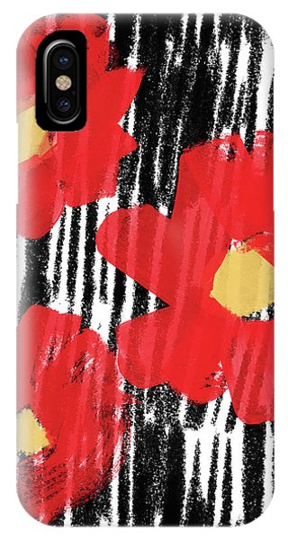 Floral iPhone Case - Modern Red Flowers- Art By Linda Woods by Linda Woods