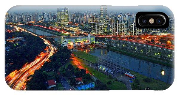 Modern Sao Paulo Skyline - Cidade Jardim And Marginal Pinheiros IPhone Case