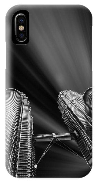 Modern Skyscraper Black And White Picture IPhone Case