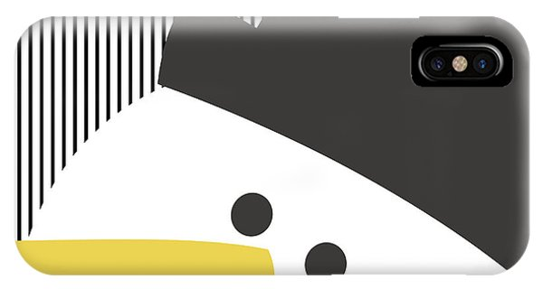 Holiday iPhone Case - Modern Snowman On Stripes- Art By Linda Woods by Linda Woods