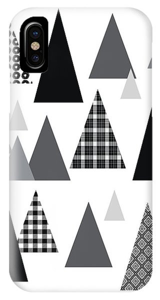Winter iPhone Case - Modern Triangle Trees- Art By Linda Woods by Linda Woods