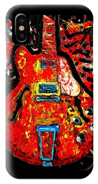 Modern Vintage Guitar IPhone Case