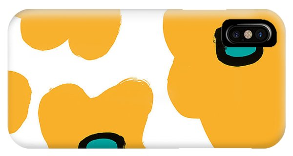 Modern Yellow Flowers- Art By Linda Woods IPhone Case