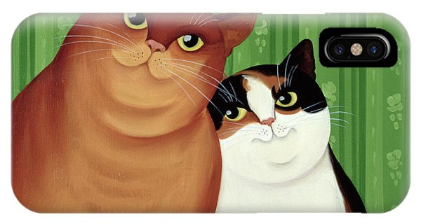 Pet iPhone Case - Moggies by Magdolna Ban