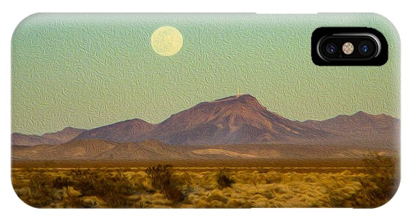 Mohave Desert Moon IPhone Case