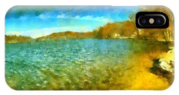 Mohegan Lake Panoramic Beach IPhone Case