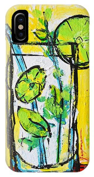 Mojito - Latin Tropical Drink Modern Art IPhone Case