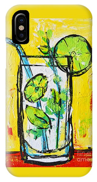 Mojito - Latin Tropical Drink Modern Art IPhone Case