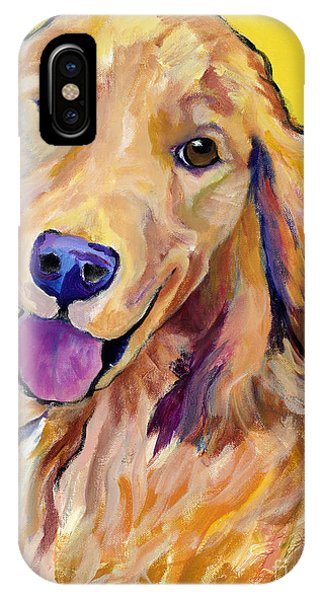 Golden iPhone Case - Molly by Pat Saunders-White