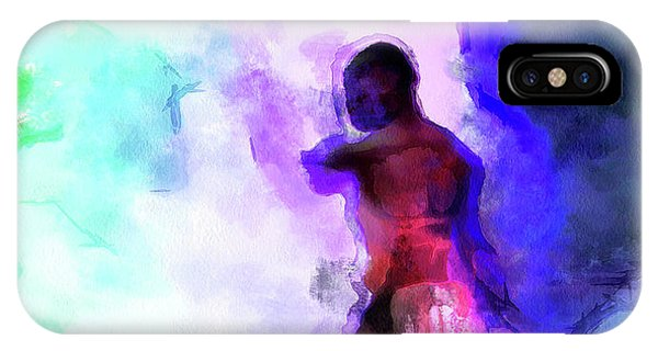 Moment In Blue - African Dancer IPhone Case