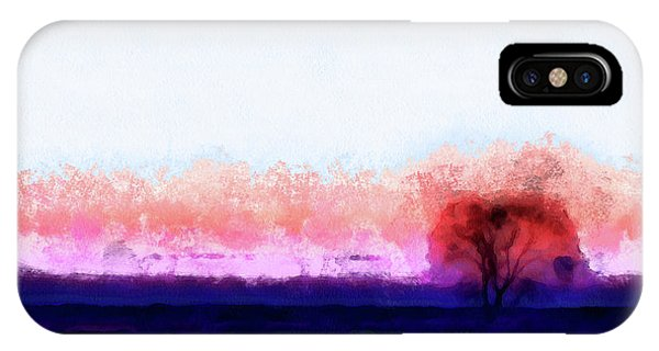 Moment In Blue Horizon Tree IPhone Case