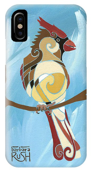 Moms Day Off Female Cardinal Painting IPhone Case