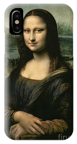 Portraits iPhone X Case - Mona Lisa by Leonardo da Vinci