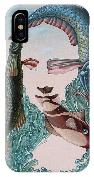 Mona Lisa. Water IPhone Case