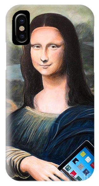 Mona Lisa With Ipad IPhone Case
