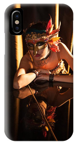 Mona. Reflection On Grand Piano IPhone Case