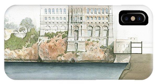 Technical iPhone Case - Monaco Oceanographic Museum by Juan Bosco