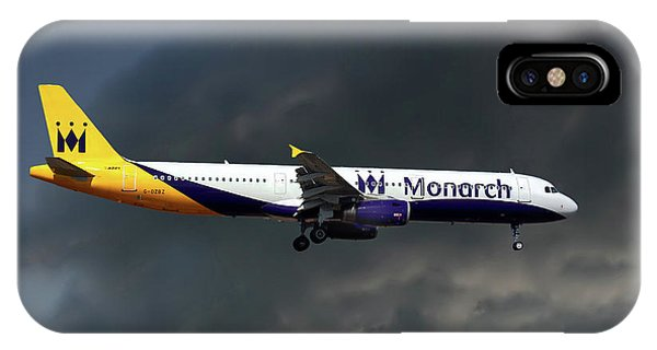 Airline iPhone Case - Monarch Airlines Airbus A321-231 by Smart Aviation