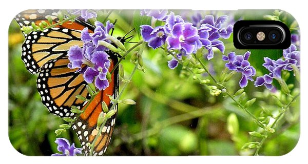 Monarch And Purple Flowers Phone Case by Rosalie Scanlon