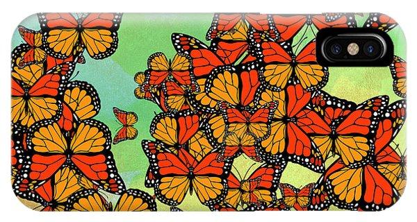 Autumn iPhone X Case - Monarch Butterflies by Gaspar Avila