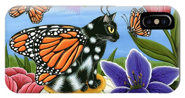 Monarch Butterfly Fairy Cat IPhone Case