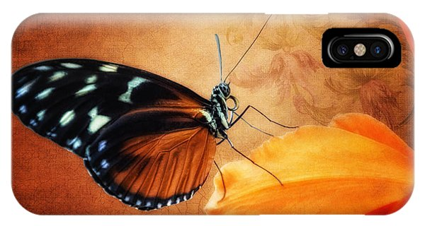 Orchid iPhone Case - Monarch Butterfly On An Orchid Petal by Tom Mc Nemar