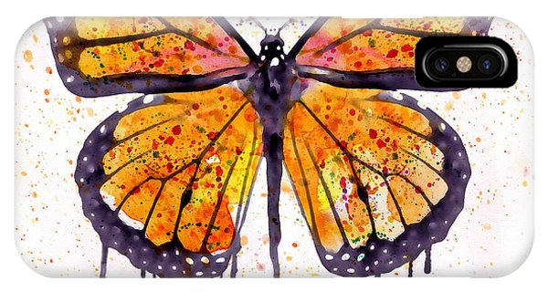 Insect iPhone Case - Monarch Butterfly Watercolor by Marian Voicu