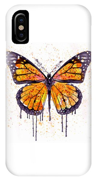 Insects iPhone Case - Monarch Butterfly Watercolor by Marian Voicu