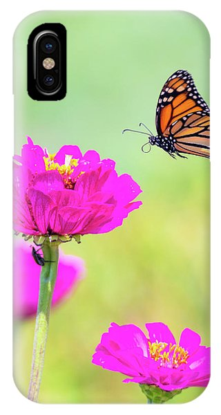 IPhone Case featuring the photograph Monarch In Flight 1 by Brian Hale
