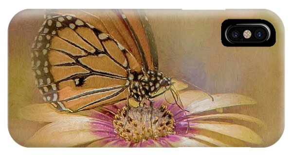 Monarch On A Daisy Mum IPhone Case