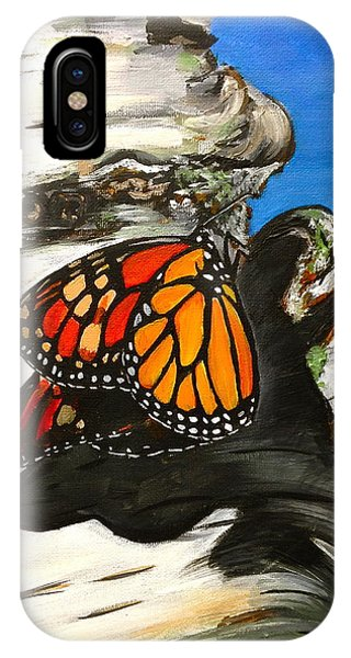 Monarch On Birch IPhone Case