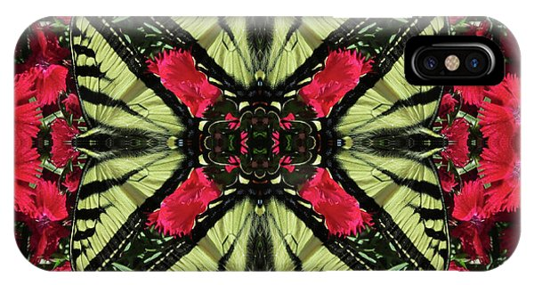 Monarch On Dianthus Kaleidoscope IPhone Case