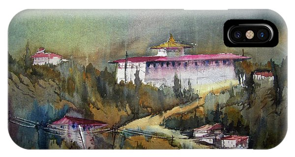 Monastery In Mountain IPhone Case