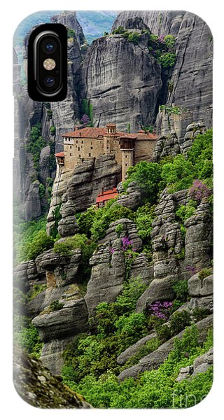 Monastery Of Saint Nicholas Of Anapafsas, Meteora, Greece IPhone Case