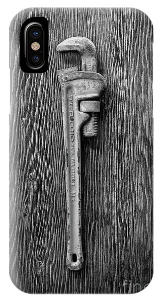 Moncky Wrench Bw IPhone Case