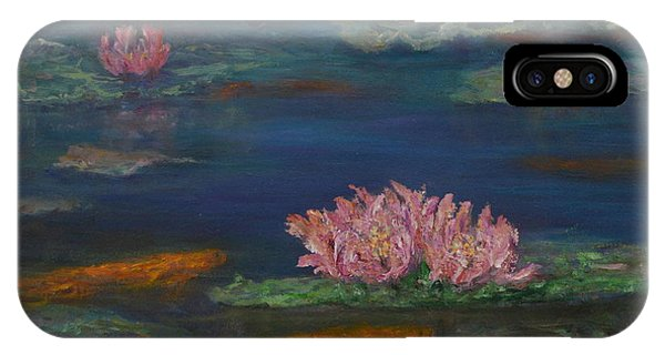 Monet Inspired Water Lilies With Gold Fish In A Pond IPhone Case
